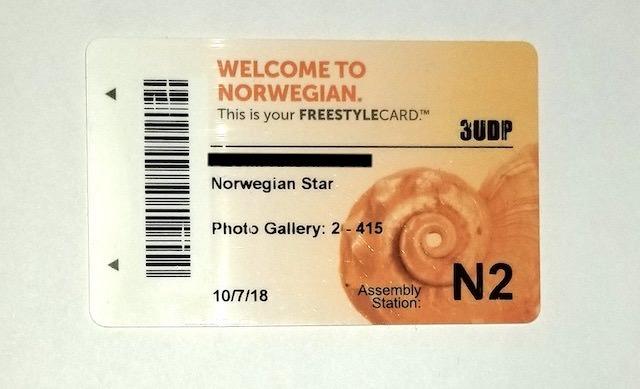 ノルウェージャンスターのクルーズカード